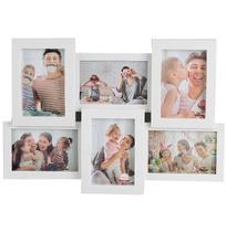 Porta Retrato Mural De Plastico Branco Para 6 Fotos 10x15 - Wellmix