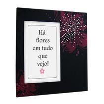 Porta-retrato para fotos 10x15 Flores com Strass - Yes