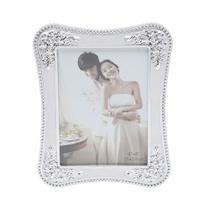 Porta Retrato Plastico Prateado C/ Strass 10 X 15Cm - F9-30103 - Prestige