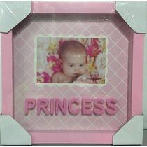 Porta Retrato Princess Rosa 13cm x 9cm Para Bebe - Yes