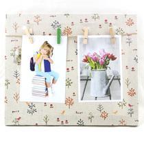 Porta Retrato Quadro Parede Paris 25x30 Varal 2 Fotos WX5413 - Wellmix