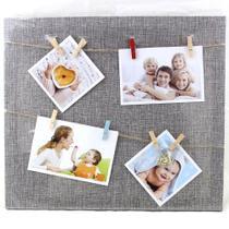 Porta Retrato Quadro Parede Paris 35x40 Varal 4 Fotos WX5414- - Wellmix