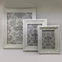Porta Retrato Retrô de Plastico Branco 10 x 15 CM FNB02 - Milk