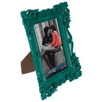 Porta-Retrato Retrô em Plástico 13x18Cm Menta - Dynasty -