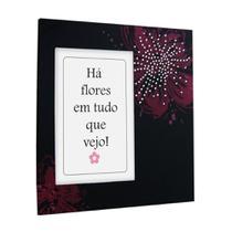 Porta Retrato Yes 19x20cm Flores com Strass 10x15cm -