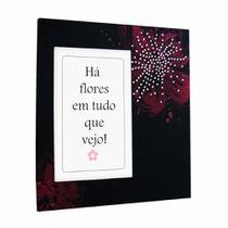 Porta Retrato Yes 19x20cm Flores com Strass -