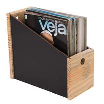 Porta Revistas Black Wood Domama Madeira -
