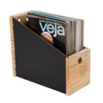 Porta Revistas Black Wood Domama -