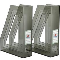 Porta Revistas Classic Line na Cor Fumê Caixa c/2 - Ref. 277.1 - ACRIMET -