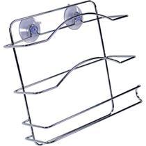 Porta-rolo Cromado com Ventosa Arthi -