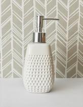 Porta Sabonete líquido ou Alcool sanitizante Porcelana branco - Mefi