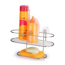 Porta shampoo cantoneira com ventosas Arthi -