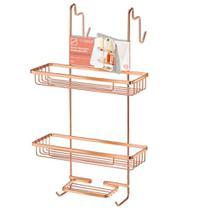 Porta Shampoo Duplo Para Box Rose Gold Arthi -