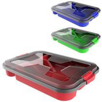 Porta talher de gaveta de plastico colors com 5 divisorias + tampa e trava 35,5x25x5,5cm - Uninjet