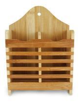 Porta Talher / Escorredor De Bambu Com 2 Divisorias 20x15x6, - Oem