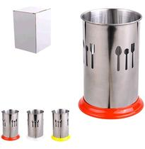 Porta talher / escorredor de talher em inox com base de plastico ox prime - Wellmix