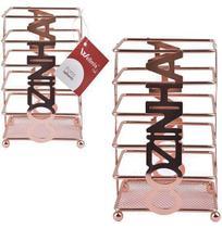 Porta talher / escorredor metalizado / rose gold - Wellmix