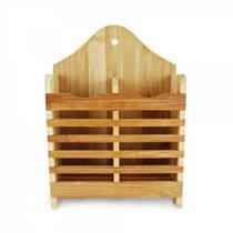 Porta Talheres Escorredor De Bambu Moderno Sustentável - Clinck