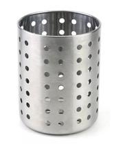 Porta Talheres Inox Vazado 12cm P/ Garfo Faca Pia Cozinha Clink -