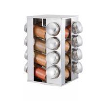 Porta Tempero Condimento 16 Potes + Suporte Base Giratória (REF: 3101) - Livon