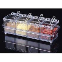 Porta Tempero e Condimento Acrílico Organizador Cozinha - Crystal