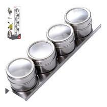Porta Temperos Condimentos Magnético Base Inox Tampa - Penselarfun