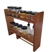 Porta Temperos e Condimentos de Parede Com Suporte Papel Toalha +12 potes de vidro - HOUSE DECOR