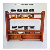 Porta Temperos e Condimentos de Parede Com Suporte Papel Toalha e 2 Ganchos - HOUSE DECOR
