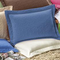 Porta Travesseiro Avulso Bia Percal 180 Fios Macio Azul - Bia enxovais