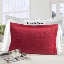 Porta Travesseiro Gigante com 4 Abas Mônaco Vermelho Realce - Sultan