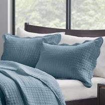 Porta Travesseiro Milão Color Art Azul - CORTTEX