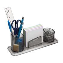 Porta Treco 3Em 1 Caneta Clips Anotação Lembrete Organizador - Waleu