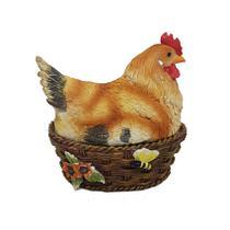 Porta treco galinha no cesto de ovos em resina - Rota do click