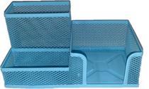 Porta Treco Organizador De Mesa Escritório Caneta Lápis Cor - Azul - Interponte