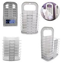 Porta Treco/Organizador Dobravel Parede Plastico Color 46x27 - Clink