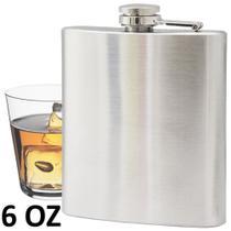 Porta whisky vodka garrafa de aço portátil cantil 6 oz 177ml CBRN01453 - Commerce brasil