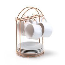 Porta Xícaras de Chá Arthi Rosé Gold -
