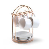 Porta Xícaras De Chá Rose Gold - Arthi