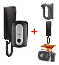 Porteiro Eletrônico Com Interfone Fechadura Elétrica E Capa - Protection
