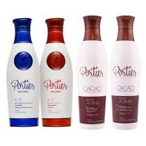 Portier Kit Escova Progressiva Fine Exclusive + Cacao - 4x1000ml
