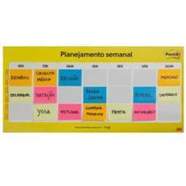 Post-it Notas Calendário Semanal 38x52mm com 2 Blocos c/ 50 folhas cada - 3M