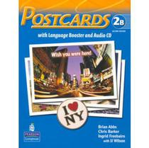 Postcards 2b Split Pack Brasil (student Book With Language Booster And Audio-cd And Reader) 2 Ed - Pearson Education - Br
