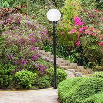 Poste de Jardim 2,16m com Globo Boca 15 Blumenau Branco -