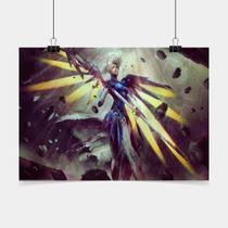 Poster Game Adesivo Cobalt Mercy Overwatch PG0340 - Conspecto
