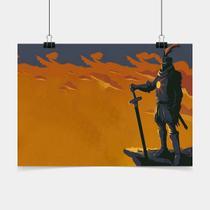 Poster Game Adesivo Dark Souls Knight PG0420 - Conspecto
