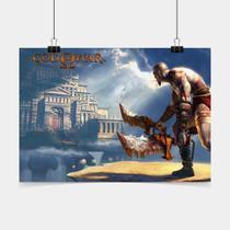 Poster Game Adesivo God Of War Kratos God PG0845 - Conspecto
