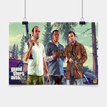 Poster Game Adesivo gta gta characters PG0887 - Conspecto