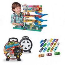 Posto de Gasolina Lava Rapido de Brinquedo e Garagem com 20 carros - Lugo Brinquedos