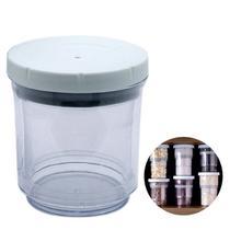Pote Acrilico Conserva Vacuo Regulavel 2 em 1 Condimento Retratil Ajustavel - Braslu