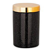 Pote de Cerâmica Preto e Dourado 8X12CM - Mart